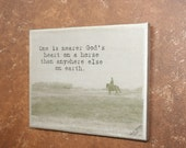 SALE!!!!! 8x10 Canvas Photograph Cowboy Quote Print