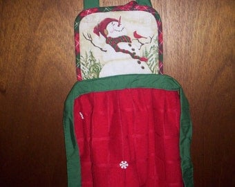 CHILDREN'S SNOWMAN APRON