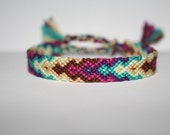 Friendship Bracelet - Berry Beachy Diamond Chevron