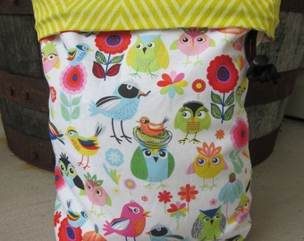 Tiny Birds - Knitting Project Bag - Phat Fiber