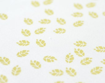 Litterfall in Husk : organic cotton handprinted fabric panel