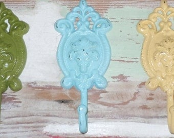 Decorative Wall Hook /Shabby Chic Hook/Vintage Style Ornate Wall Hook / Organization / Jewelry Hook/ Coat Hook