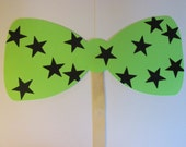 Large Bow tie on a sticks, Wedding photo props, photo booth props