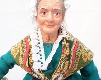 Santon Doll Vintage French D Sacturro Provence (w528)