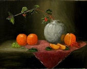 Oranges and Vase