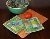 Summertime Greens Mosaic Batiks Pot Holder Set