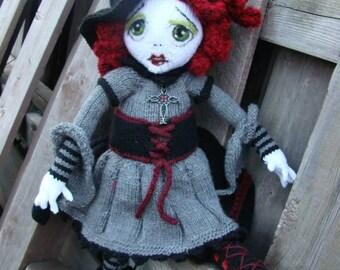 Pattern for  Spelladonna Raggedy Lottie ragdoll doll knitted doll