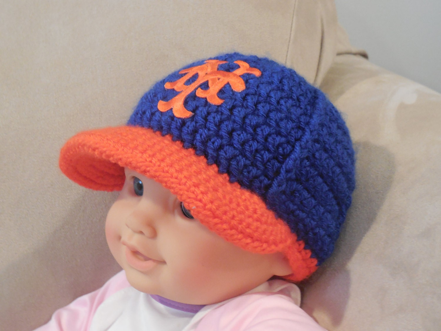 your team baby baseball cap crochet baseball hat