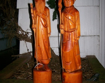 Chinese Carved  Wood Figurines