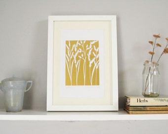 Grasses Paper cut