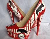 Nevermore Raven and Skull Killer Heels US 6.5 /UK 4 /Euro 37 /Japan 22.5