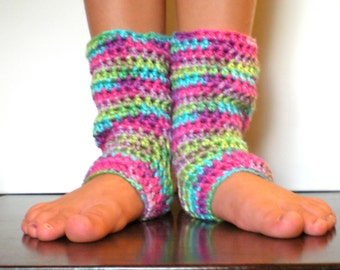 PATTERN:  Kid Yoga Socks, Leg Warmers, Easy Crochet Dance, Ballet, stripes, InStAnT DoWnLoAd, Permission to Sell