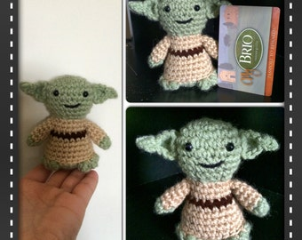 Tiny Yoda inspired figure