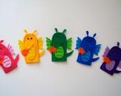 Custom Order - Dragon puppets