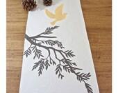 Golden Bird Takes Flight Table Runner - Ivory Combo