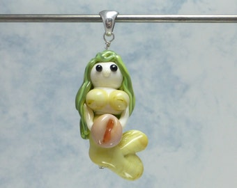 Lampwork Glass Mermaid Pendant