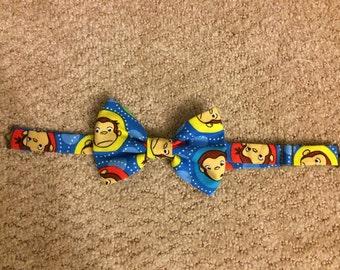 Kids Curious George Bow Tie - Adjustable