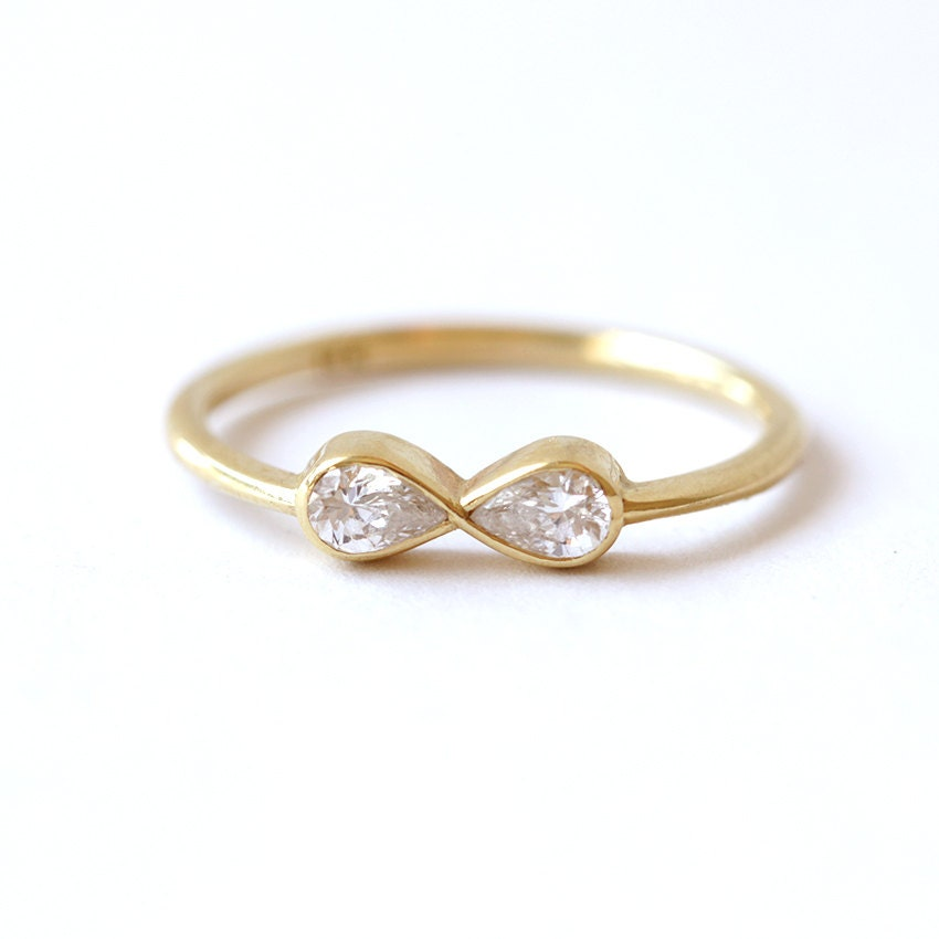 Engagement Ring Diamond Infinity Ring Alternative Engagement