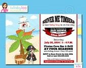 Pirate Baby Shower Invitations - Printed Baby Shower Invitations - Custom Invitations