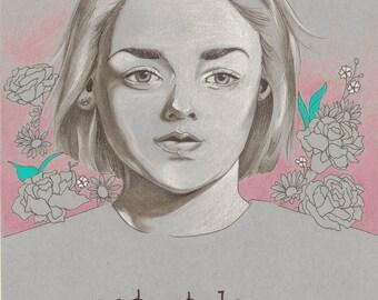 Not Today by Tania Qurashi - Original Arya Stark Game of Thrones fan art