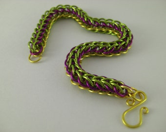 Chain Maile Full Serpentine multi color bracelet