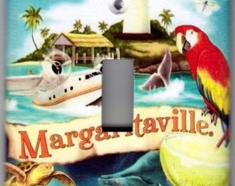 Margaritaville / Island Life Switchplate Cover / Tropical Island / Margarita - Single Toggle / Single Outlet / Double Toggle