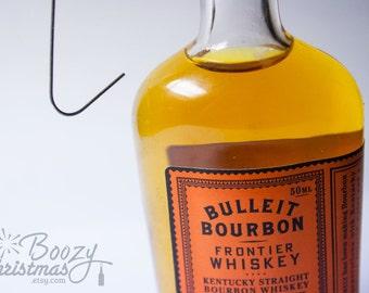 Bulleit Bourbon Ornament-- Bulleit Bourbon Frontier Whiskey Themed Christmas Tree Ornament.