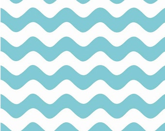 Wave Aqua by Riley Blake Designs Fat Quarter Cut - Wave Fabric