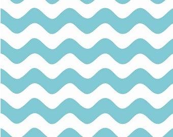 Wave Aqua by Riley Blake Designs Half Yard Cut - Wave Fabric