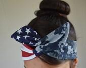 Navy girlfriend, Navy Headband - US Navy Girlfriend - Navy Headband - Hair Bows - Flag Headband - Dollybow Headband - A2
