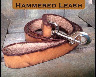 """60"""" Hand made Genuine leather dog leash personalized for special furry friend!  60""""length"""