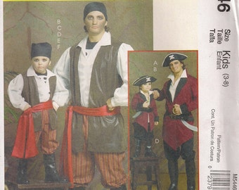 McCall's Costume Sewing Pattern M5446 - Men's Pirate Costumes