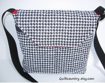Alabama Roll Tide crossbody messenger bag, crossover bag in quilted cotton