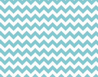 Riley Blake Fabric - 1 Fat Quarter Small Chevron in Aqua