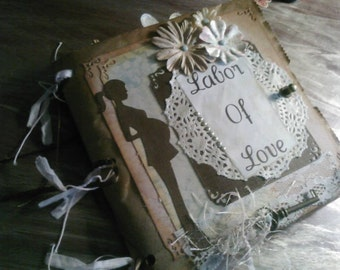 8x8 Premade Paperbag Scrapbook Pregnancy Journal
