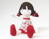 """INSTANT DOWNLOAD 16"""" Cherry Doll and Doll Clothes PDF Pattern and Sewing Instruction"""