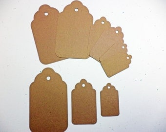 Tags Set of 3 Craft Card Stock Paper