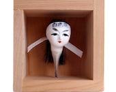 Sculpture | Antique Japanese Doll Head | Porcelain | Objét | Box