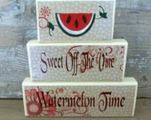 Watermelon Wooden Stacking Blocks.  Wood stacking blocks, HAFAIR