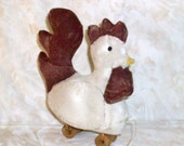 Primitive Rooster Pull toy Pattern - 413, HAFAIR