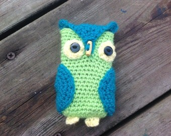 Owl cell phone, mobile phone case, digital camera case, cosy, hand crocheted in you colour choices