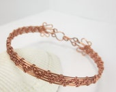 Copper Bracelet, Copper Wire Woven Bracelet, Electromagnetic Protection Stylish Modern (#207)
