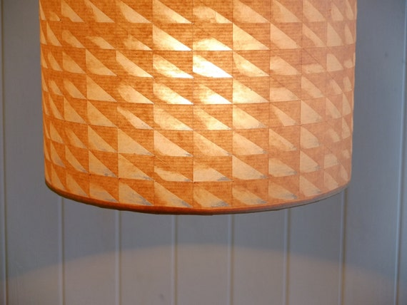 Geometric triangles brown paper lampshade