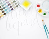 Artwork Mockup for prints (25); styled stock photography; web, blog; watercolor art