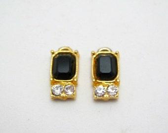 destash - vintage pair of earring parts - 17mm - two pieces