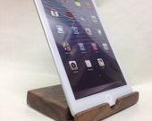 iPad mini stand / dock -  Oregon Black Walnut