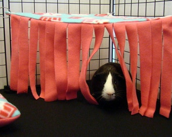 Custom Fleece Corner curtain hidey forest hedgehogs, guinea pigs, ferrets, rats, rabbits hamster and other small animals cavy custom