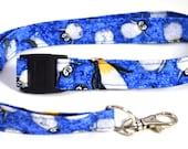 Penguin ID lanyard, badge reel, stethoscope clip