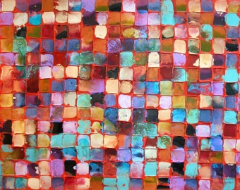 Abstract Original Modern Art by Caroline Ashwood - Textured and contemporary painting on canvas - FREE SHIPPING