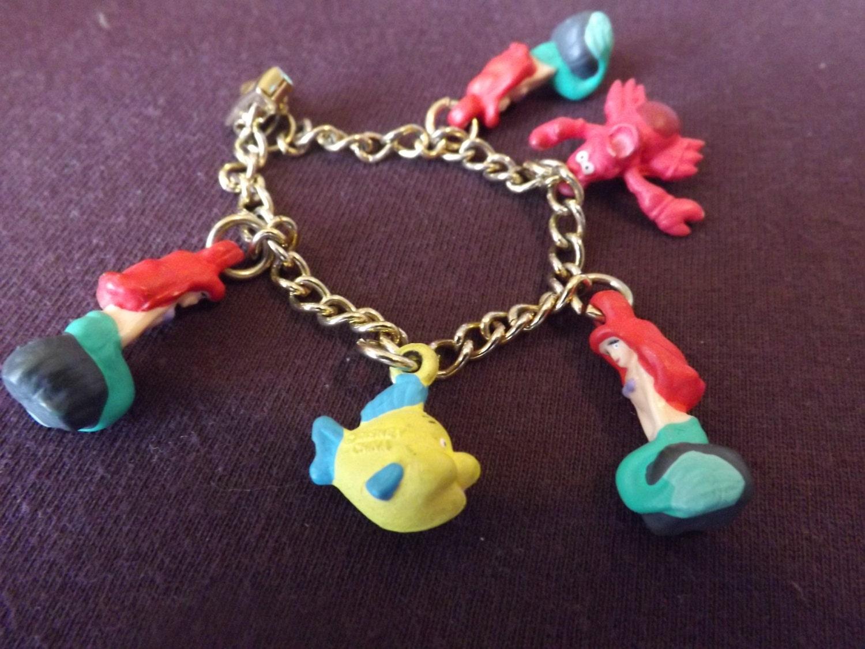 mermaid charm bracelet ariel by septemberbutterfly